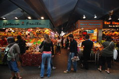 Fruit market in Barcelona Stock Images