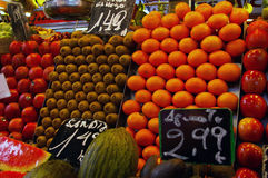 Fruit market in Barcelona Royalty Free Stock Image