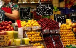 Fruit market in Barcelona, Spain. La Boqueria - fruit market in Barcelona, Spain royalty free stock images