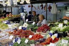 Fruit market of Bolzano in South Tyrol Stock Photo