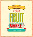 Fruit market design. Stock Photos