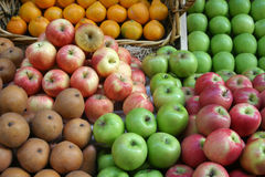 Fruit Market Display Stock Photo