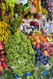 Fruit market on display Royalty Free Stock Photos