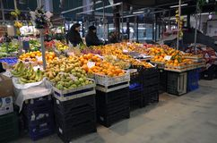 Fruit market in Florence city, Italy Stock Image