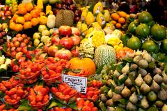 Fruit market Fresh fruits Stock Photos