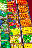 Fruit market Fresh healthy fruits and vegetables Stock Photo