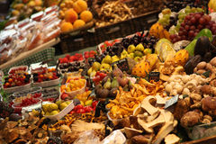 Fruit Market with huge selection of fruits Royalty Free Stock Image