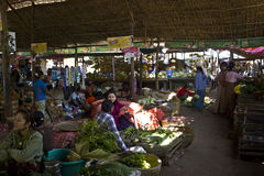 Fruit Market at Inle lake Stock Photos
