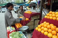 Fruit market in kashmir. Royalty Free Stock Photography