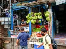 Fruit market in Kathmandu, Nepal Royalty Free Stock Image