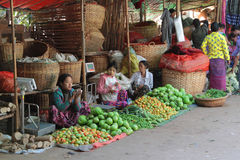 Fruit Market in Myanmar Royalty Free Stock Photography