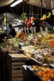 Fruit market at night Stock Photo
