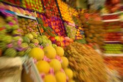 Fruit market scene Royalty Free Stock Photography