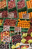 Fruit market stall Royalty Free Stock Images