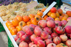 Fruit on market stall Royalty Free Stock Images