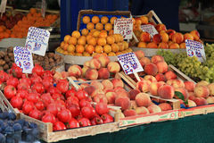 Fruit market stall Stock Image