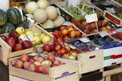 Fruit market stall in Venice - detail Royalty Free Stock Image