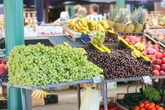 Fruit on market stand Royalty Free Stock Images