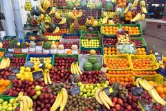 Fruit Market in Tunis, Tunisia stock photo