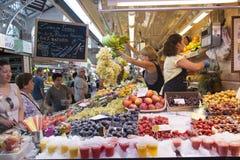 Fruit market in Valencia - Spain Stock Photos