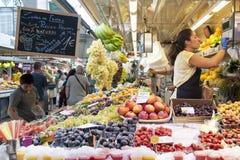 Fruit market in Valencia - Spain Stock Photography
