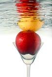 Fruit in martini glass. Stock Image