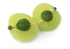 Fruit médicinal coupé en tranches d'amla Image stock