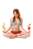 Fruit Meditation Royalty Free Stock Images