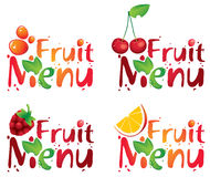 Fruit menu Stock Image