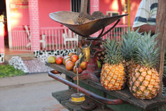 Fruit merchant in Trinidad, Cuba Royalty Free Stock Photo