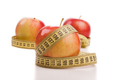Fruit with meter, diet concept Royalty Free Stock Photography