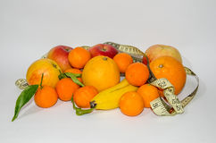 Fruit with meter isolated Stock Photos