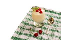 Fruit milk yogurt Royalty Free Stock Image