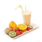 Fruit milkshake Stock Photos