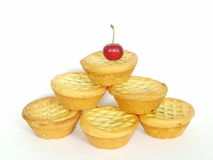 Fruit mince pies pyramid Stock Photos