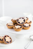 Fruit mince tarts for Christmas dinner Royalty Free Stock Photography