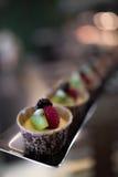 Fruit mini cup cake Royalty Free Stock Photos