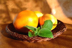 Fruit and mint stock photo