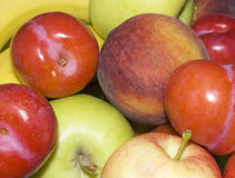 Fruit Mix. Close-up of different types of fruits Stock Photo