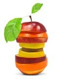 Fruit mix. Isolated on white stock photos