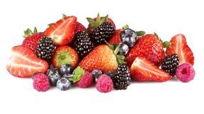 Fruit mix. On the white Royalty Free Stock Photos