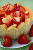 Fruit mix. Decoration on plate Royalty Free Stock Photography