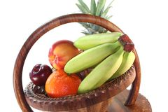 Fruit Mix in the basket Stock Photo