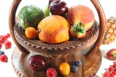 Fruit Mix in the basket Royalty Free Stock Image