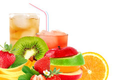 Fruit mix and cocktail Royalty Free Stock Image