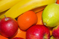 FRUIT, MIX, FOOD. Mix fruits background.Fresh fruits.Healthy eating, dieting concept, clean eating Stock Images