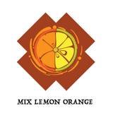 Fruit mix lemon orange graphic element design icon symbol. Fruit mix lemon orange graphic element design key visual icon symbol vector illustration