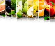 Fruit mix. Photo of colorful fruit mix with white space for text stock images