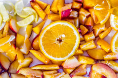 Fruit mix. Preparing for cooking the natural juice royalty free stock images