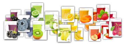 Colorful Fruit Tea Mix Rectangles royalty free stock images